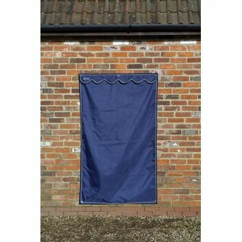 Mark Todd Stable Door Drape - Large - NAVY/SILVER