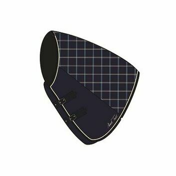 Mark Todd Stable Rug Ultimate Heavyweight Neck Cover Navy/Beige/Royal Plaid
