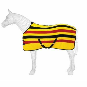 Masta Fleece Rug Ascot Stripe Suede Gold