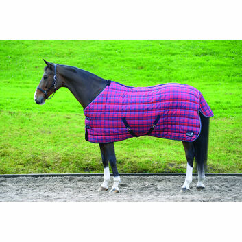 Masta Stable Rug Quiltmasta 350g Std Neck Red/Navy Check