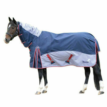 Masta Turnout Rug Fieldmasta 200g Fixed Neck Navy/Grey
