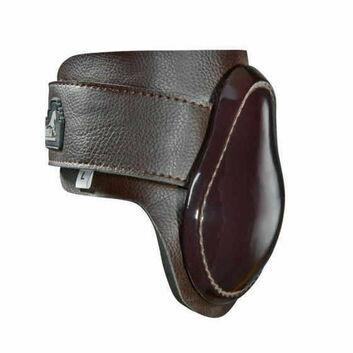 Masta Fetlock Boots Leather Look Neoprene Brown