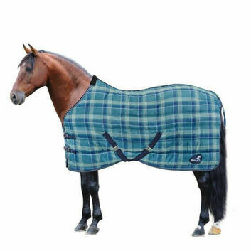 Masta Stable Rug Quiltmasta 350g Std Neck Ocean Check