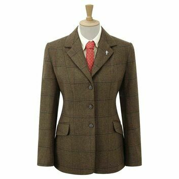 Caldene Competition Jacket Southwold Tweed Girls Brown