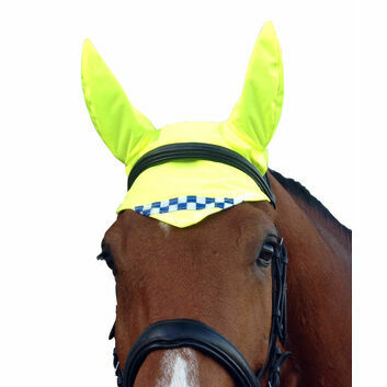Equisafety Polite Reflective Hi-Vis Horse Ear Covers Yellow - YYELLOW