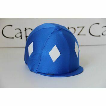 Capz Motif Cap Cover Lycra Diamond - ROYAL/WHITE