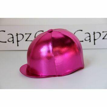 Capz Metallic Cap Cover Lycra Foil - CERISE