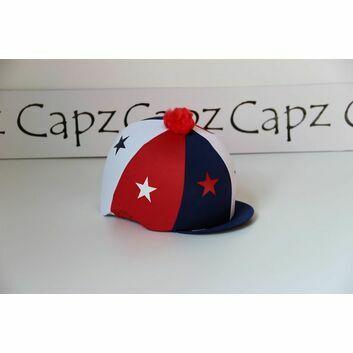 Capz ZP Cap Cover Lycra - RED/WHITE/BLUE