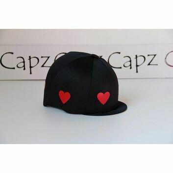 Capz Motif Cap Cover Lycra Heartz