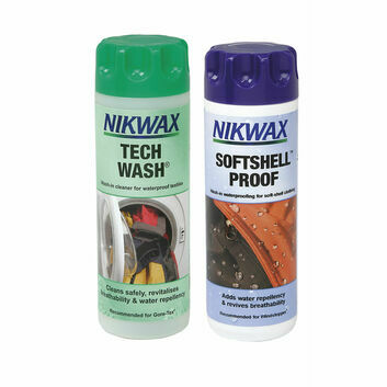 Nikwax Tech Wash/SoftShell Proof Twin Pack