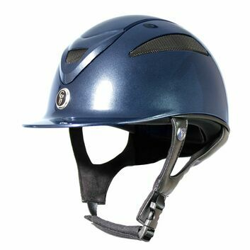 Gatehouse Conquest MKII Riding Hat Metallic Navy