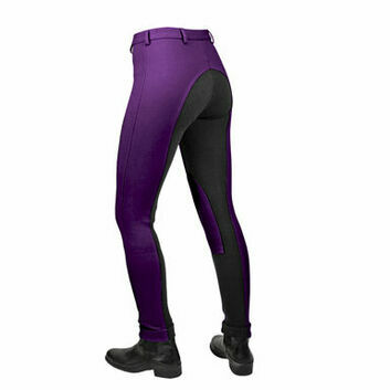 Saddlecraft Jiggy Jodhpurs Two-Tone Child Purple/Black