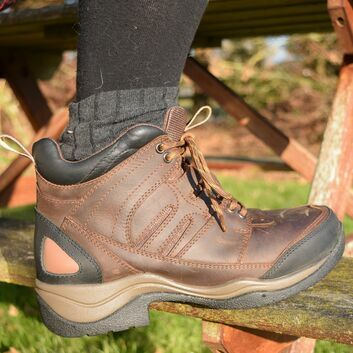 Mark Todd Short Cyclone Lace Boots Brown - SIZE 42