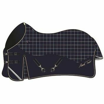 Mark Todd Turnout Rug Lightweight Navy/Beige/Royal Plaid
