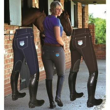 Mark Todd Breeches Venus Grip Navy/White