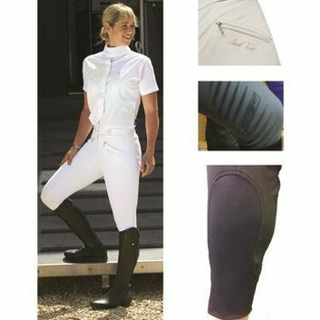 Mark Todd Breeches Coolmax Grip Ladies Navy