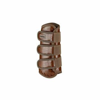 Caldene Tendon Boots Crocodile Brown
