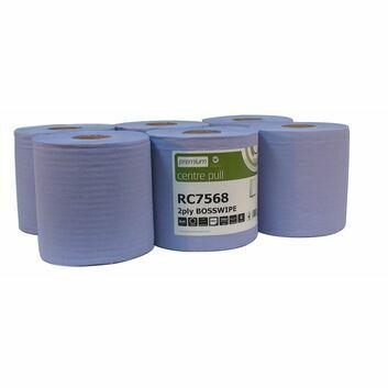 Embossed Standard C/Pullrolls 2-Ply Blue - 6 ROLLS
