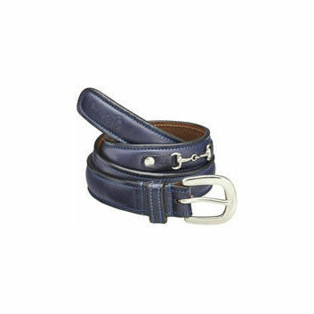 Caldene Belt Saran Leather Navy