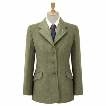 Caldene Competition Jacket Belvoir Derby Tweed Ladies Green