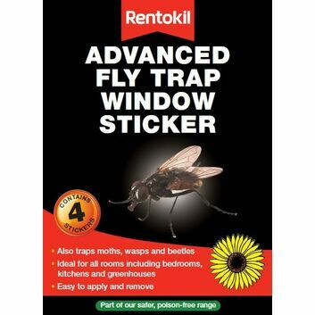 Rentokil Advanced Fly Trap Window Sticker - 12 X 4 PACK