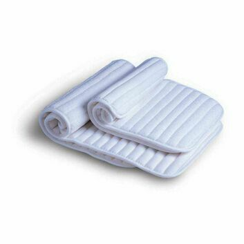 Cottage Craft Leg Wraps Channel Quilt - 4 Pack - WHITE