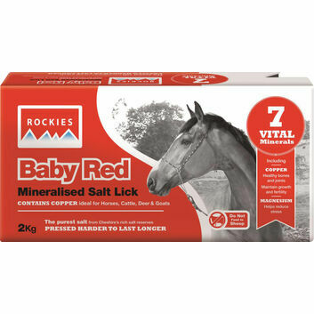 Rockies Baby Red Salt Lick - 10 X 2 KG