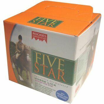 Rockies Five Star - LICK X 5 KG