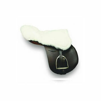 Cottage Craft Saddle Seat Saver Simulated Sheepskin White