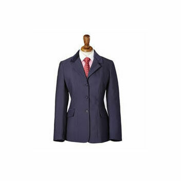 Caldene Competition Jacket Sawdon Pinstripe Girls Navy