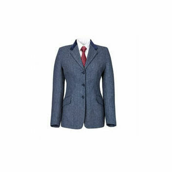 Caldene Competition Jacket Silverdale Tweed Girls Blue