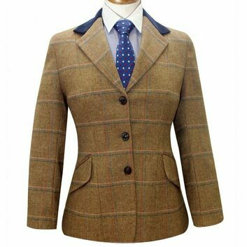 Caldene Competition Jacket Silverdale Tweed Girls Light Brown