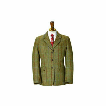 Caldene SS18 TEX Competition Jacket Southwold Tweed Girls Brown