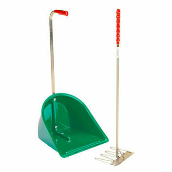 Stubbs Stable Mate Manure Collector High c/w Rake S4585 - GREEN