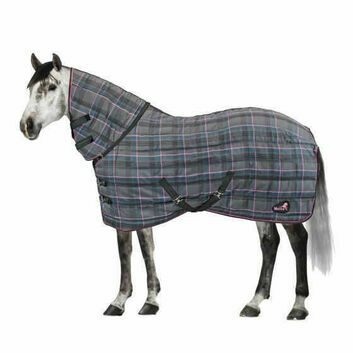 Masta Stable Rug Quiltmasta 350g Fixed Neck Grey Check