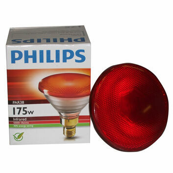 Philips Lamp ES27 Infrared PAR38 Red - 175w