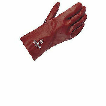 Gloves PVC Gauntlet - RED