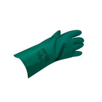 Gloves Nitrile Gauntlet - GREEN