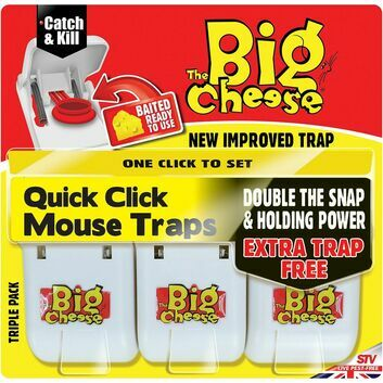 The Big Cheese Quick Click Mouse Trap - 3 PACK