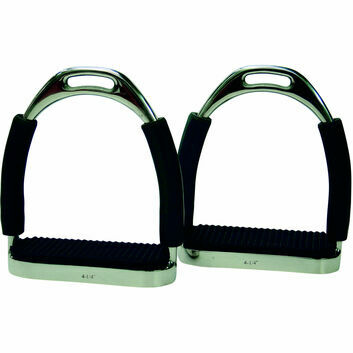 ProTack Stirrups Flexi c/w Black Treads