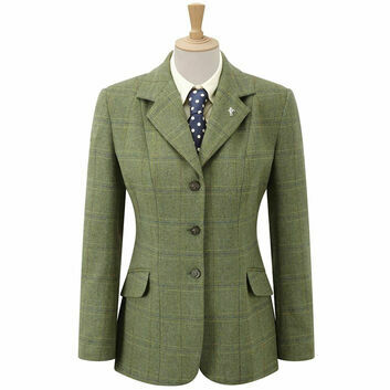 Caldene Competition Jacket Southwold Tweed Girls Green Check