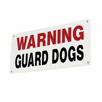 Stubbs Guard Dog Sign S360