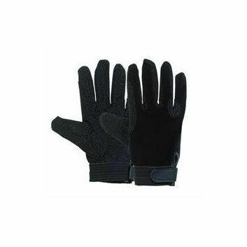 Harry Hall Gloves Cotton Pimple Grip Black