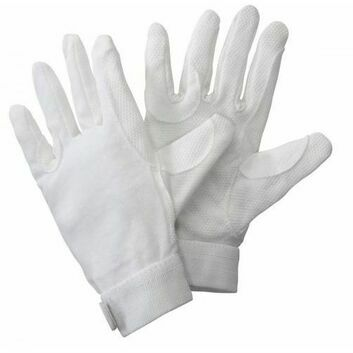 Harry Hall Gloves Cotton Pimple Grip White