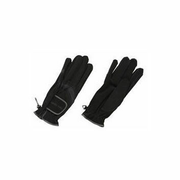 Harry Hall Gloves Domy Suede Black