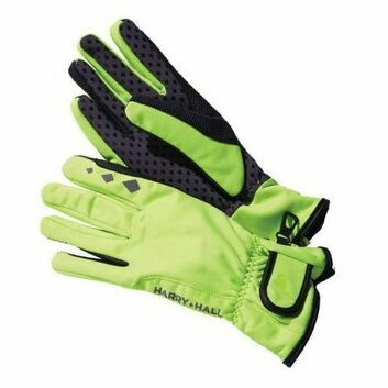 Harry Hall Gloves Softshell Riding Yellow