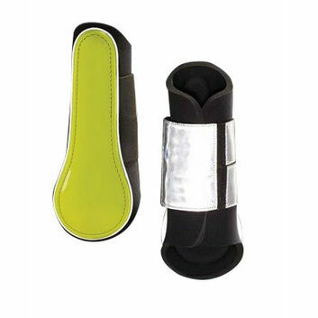 Harry Hall Hi-Viz Brushing Boots Yellow