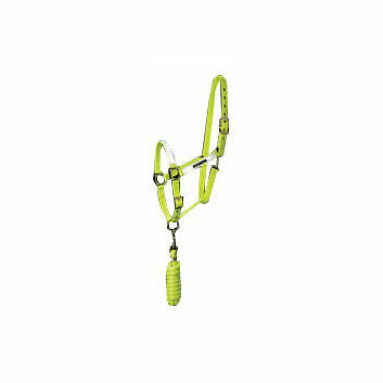 Harry Hall Hi-Viz Headcollar & Lead Rope Set Yellow