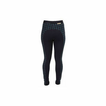 Harry Hall TEX Jodhpurs Chester Checked Ladies Navy/Emerald