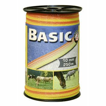 Basic Fencing Tape 250m x 10mm - YELLOW/ORANGE